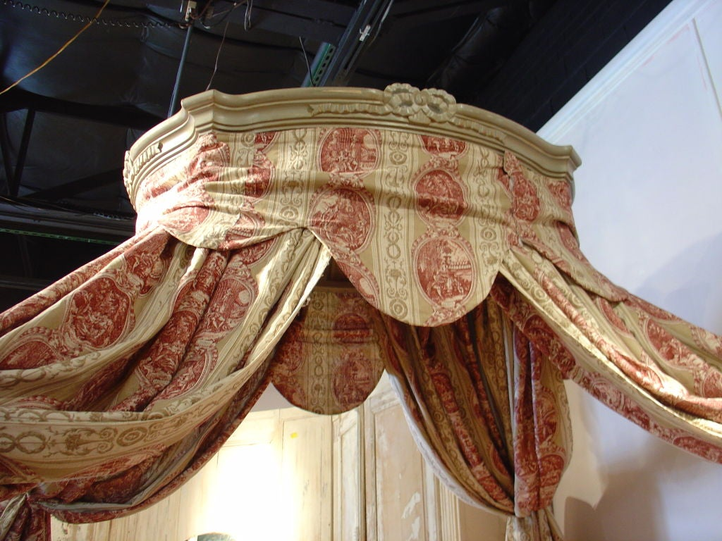 Painted Louis XVI Style Canopy Bed 2