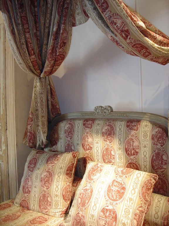 Painted Louis XVI Style Canopy Bed 3