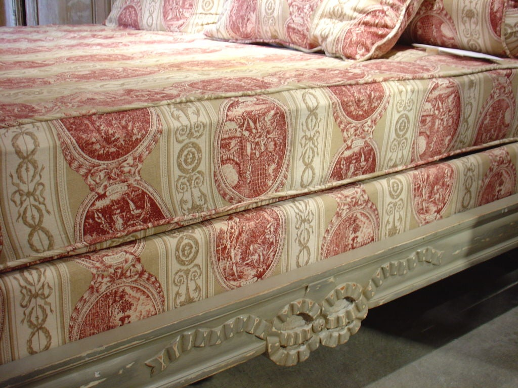 Painted Louis XVI Style Canopy Bed 5