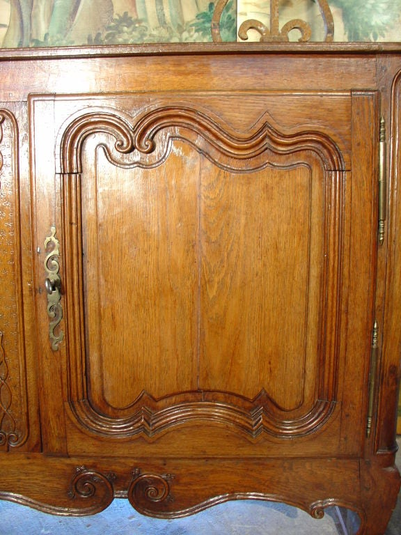 18th century louis xv style bombe front buffet at 1stdibs for Front door not centered
