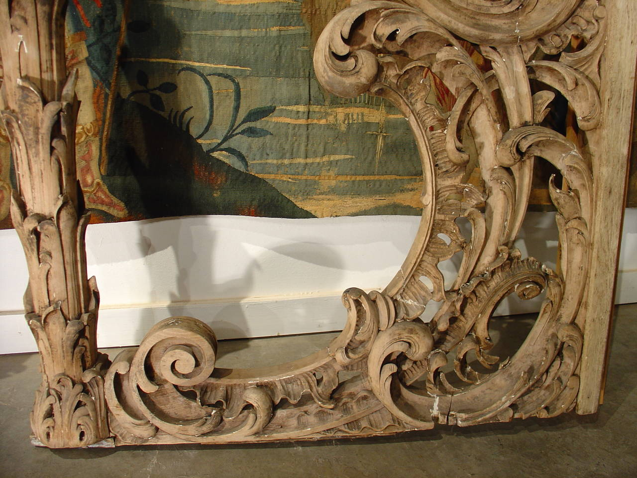 Rare Pair Of Carved Antique French Walnut Wood Rococo Gates For Sale 1