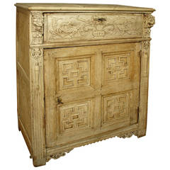 Large 19th Century Stripped Oak Confiturier from France
