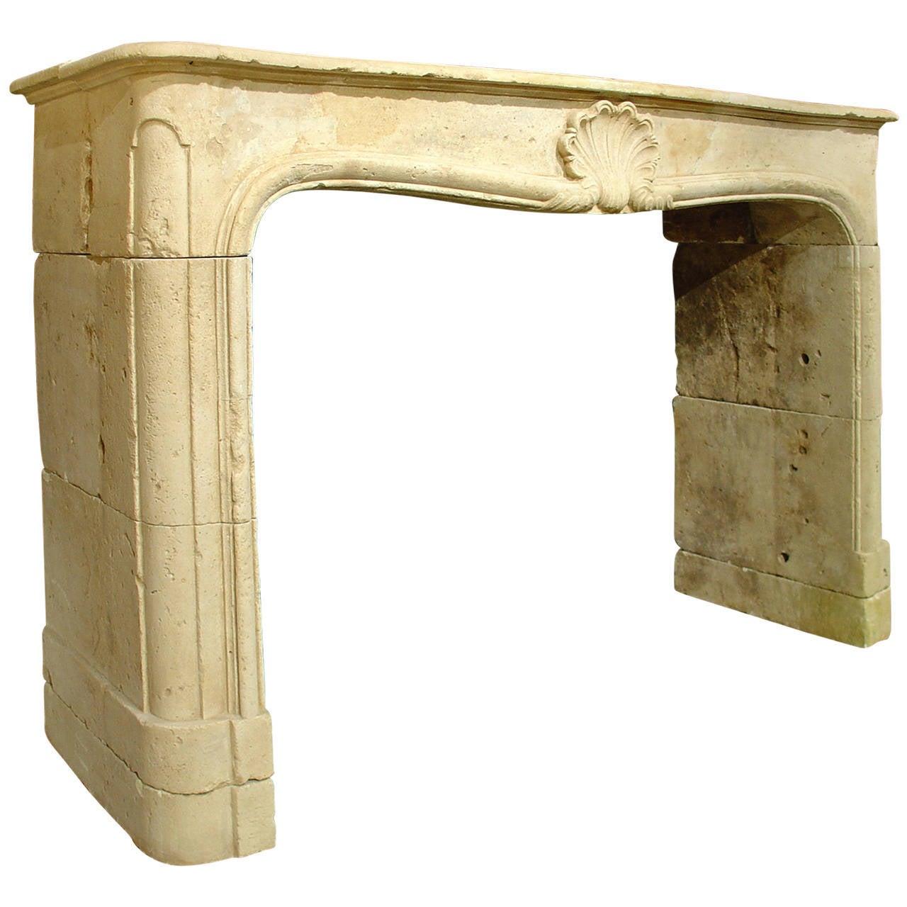 Period Louis XV Limestone Fireplace Mantel At 1stdibs