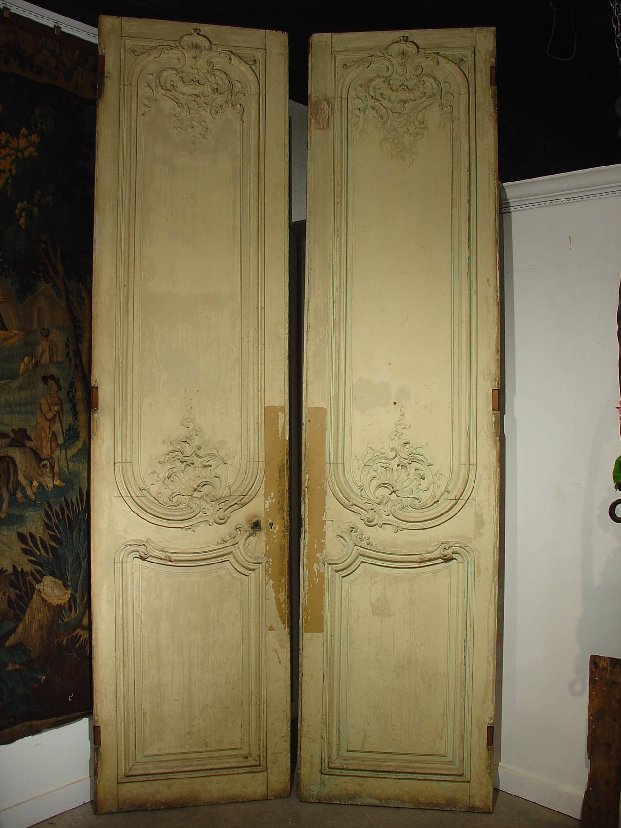 pair of tall regence style french doors from the early