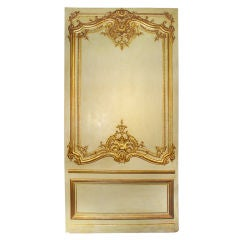 Antique Boiserie Panel with Water Gilding