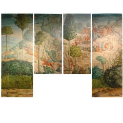 Set of Large Spanish Paintings (Tetraptych) 20th Century