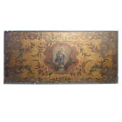 17th C. French Antique Framed Painting on Leather