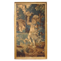 Framed 18th Century Aubusson Tapestry of Bacchus