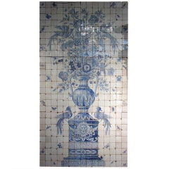 Massive 'Azulejo' Antique Tiled Plaque from Portugal (3 Sections)