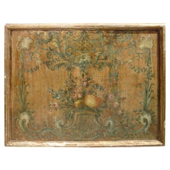 Painted Antique Italian Panel-18th Century