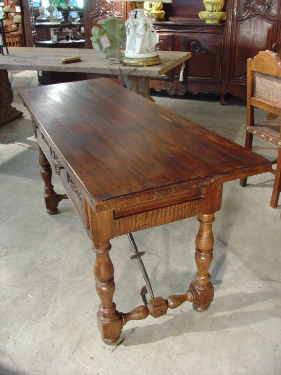 Antique Catalan Walnut Wood Console from France at 1stdibs : 906313264769323 from www.1stdibs.com size 576 x 768 jpeg 79kB