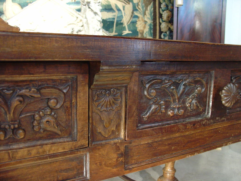 Antique Catalan Walnut Wood Console From France At 1stdibs