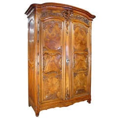 Rare Period Regence Armoire Lyonnaise-Walnut and Burled Walnut (1700-1730)