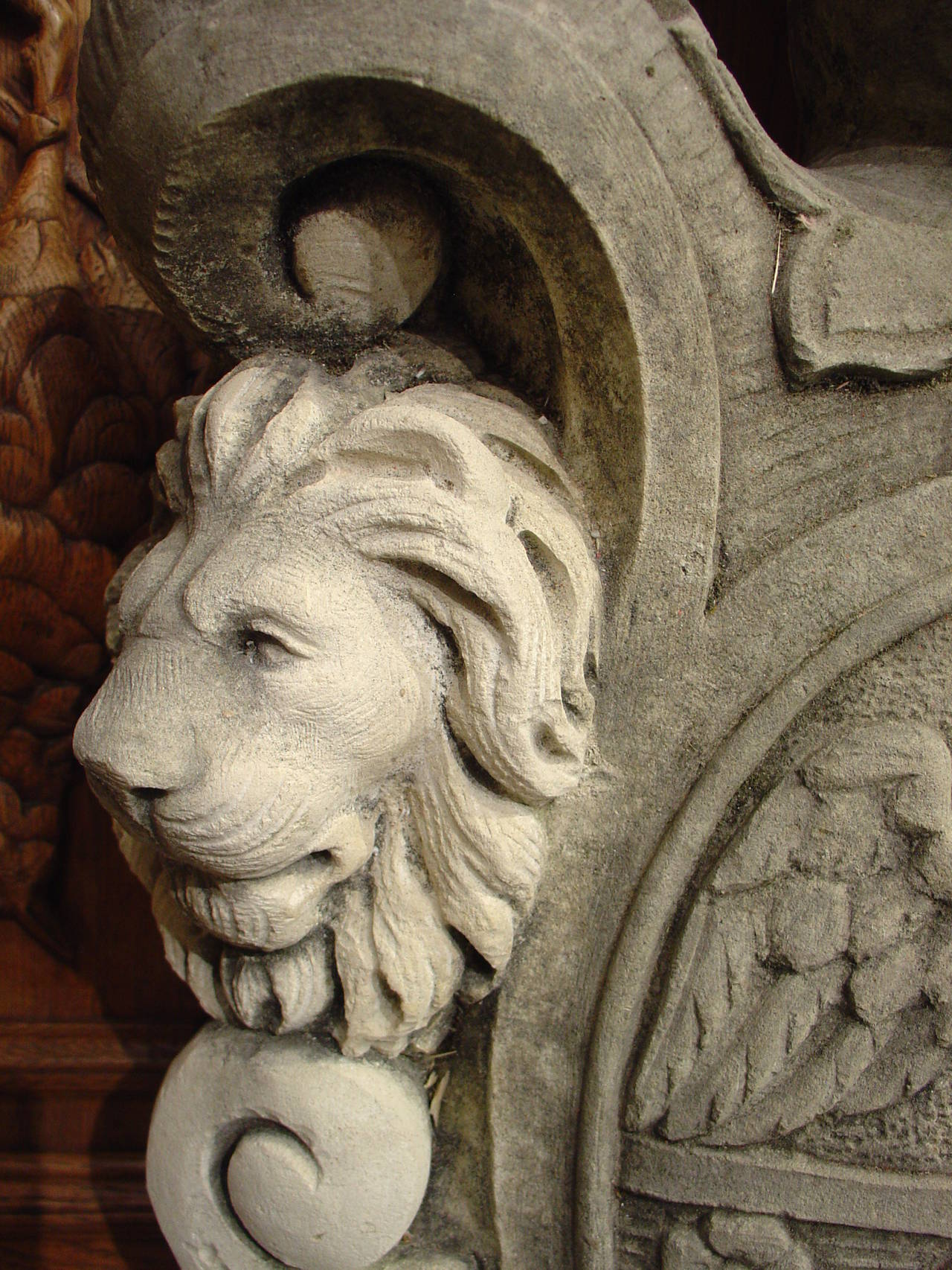 Carved italian limestone coat of arms at stdibs
