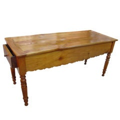 Antique French Gibier Table with Side Drawers, Late 1800s