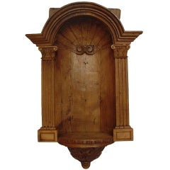 Antique Oak Niche From France-1800s