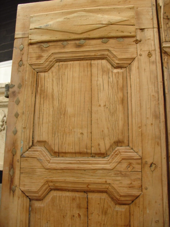 Period Antique Directoire Doors Poplar Wood Circa 1800