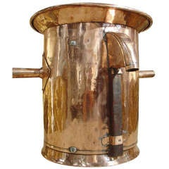 Antique Copper Wine 'Mesure a Vin' from a French Vineyard, C. 1850