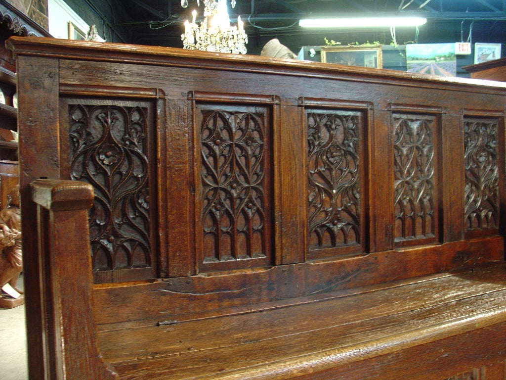 18th Century Gothic Style Bench Trunk From Normandy At 1stdibs