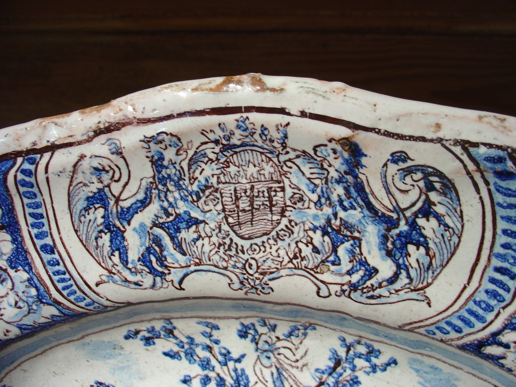 18th Century Faience Plate From Nevers France At 1stdibs