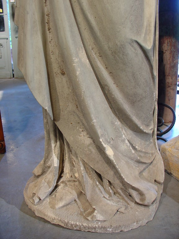 Old Garden Statue: Antique Stone Statue Of St. Joseph-Late 1800s At 1stdibs