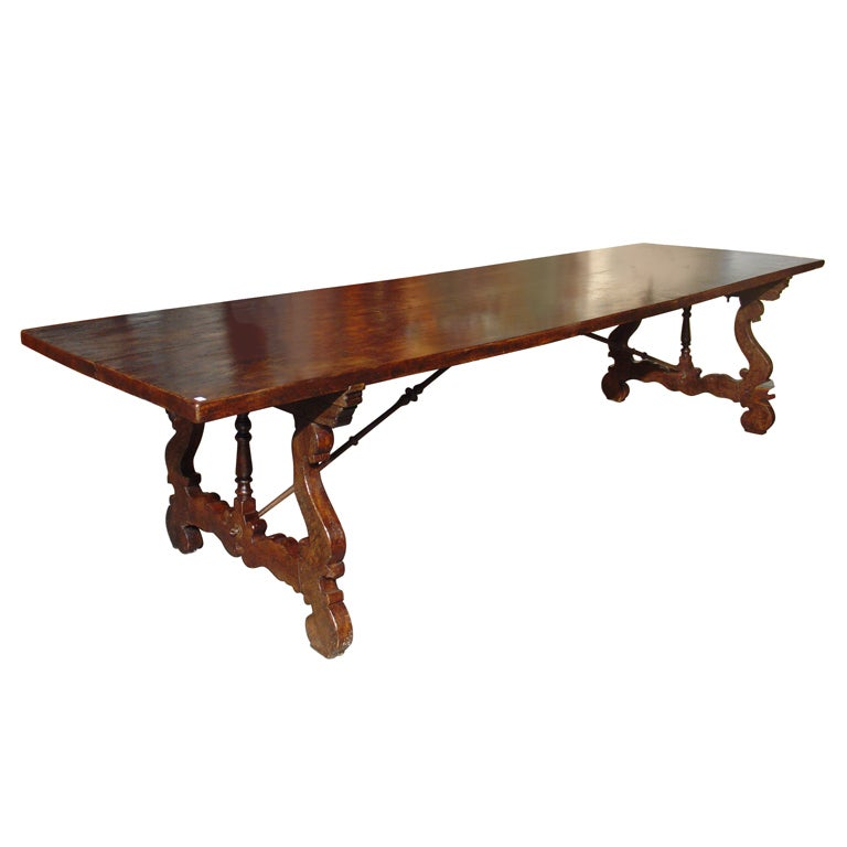 Massive Antique Elm Dining Table From Spain Early 1700s At 1stdibs