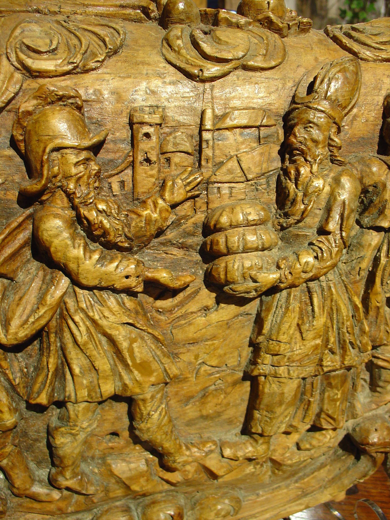 Unusual th century wood carving sculpture from northern