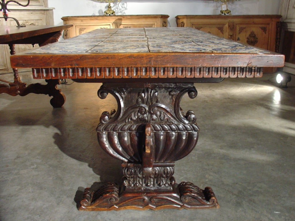 Antique Table with Portuguese Tiles and Spanish  : 906313398027263 from www.1stdibs.com size 1024 x 768 jpeg 159kB
