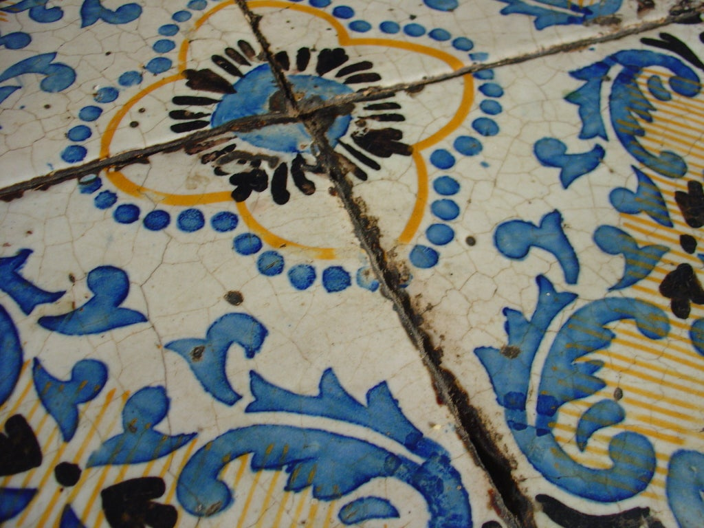 Antique Table With Portuguese Tiles And Spanish