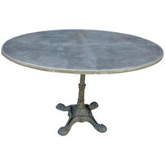 Antique French Bistro Table with Custom Zinc Top