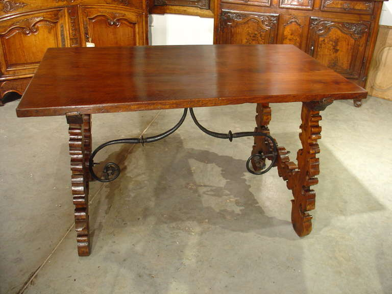 impressive antique wooden center table