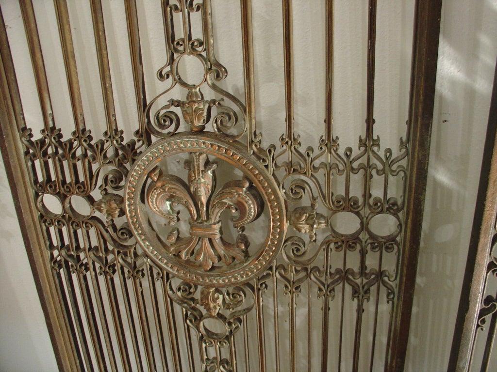 Pair Of Antique Fleur De Lys Elevator Gates From France C