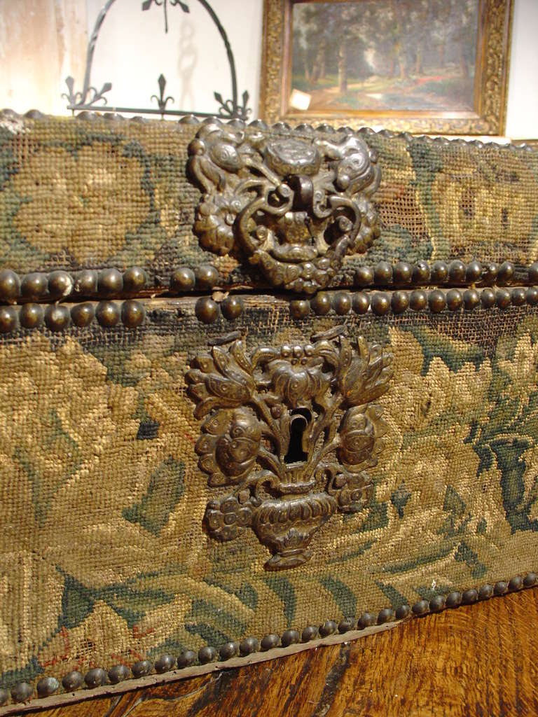 17th Century Tapestry Trunk From France At 1stdibs
