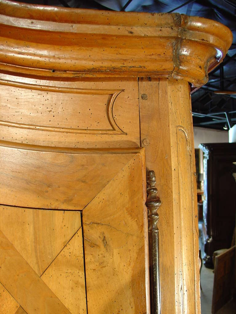 Early 1800's Antique Parquet Armoire- Chateau Bienassis, France In Good Condition For Sale In Dallas, TX