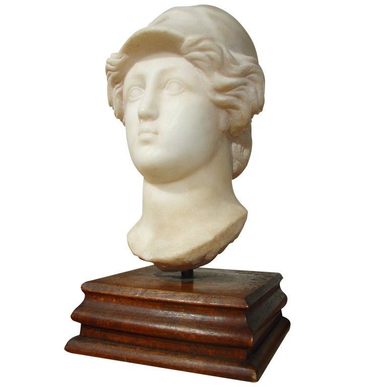 Antique European Marble Sculpture C. 1800