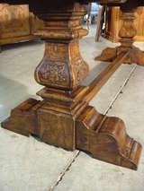 Italian Renaissance Style Oak Trestle Table image 9
