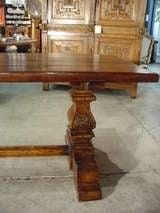 Italian Renaissance Style Oak Trestle Table image 2