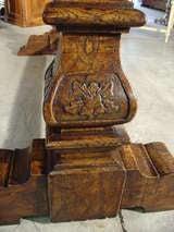 Italian Renaissance Style Oak Trestle Table image 4