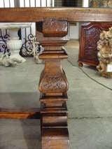 Italian Renaissance Style Oak Trestle Table image 6
