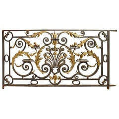Antique Balcony Gate from a Normandy Castle, 1800s