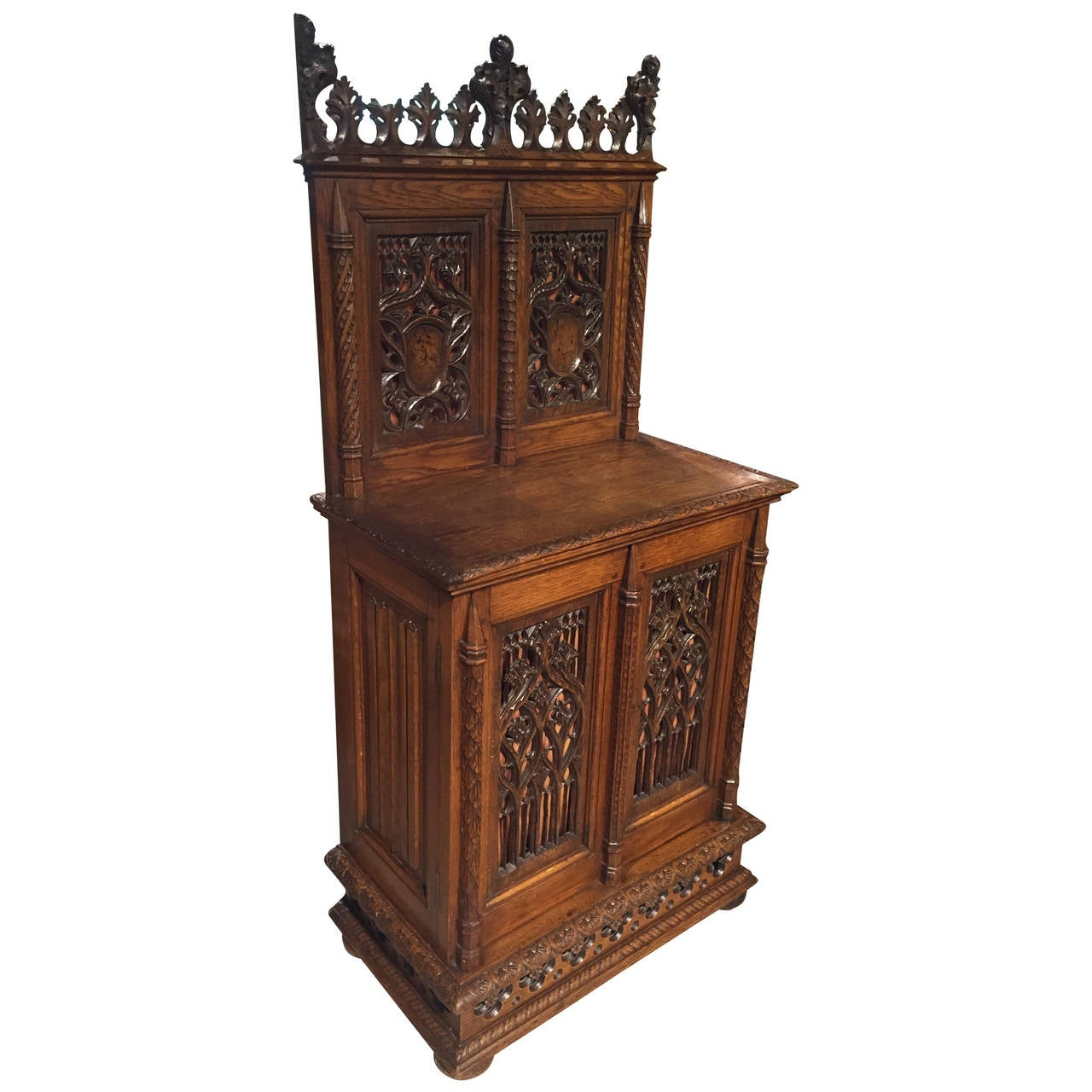 19th century neo gothic cabinet from france at 1stdibs