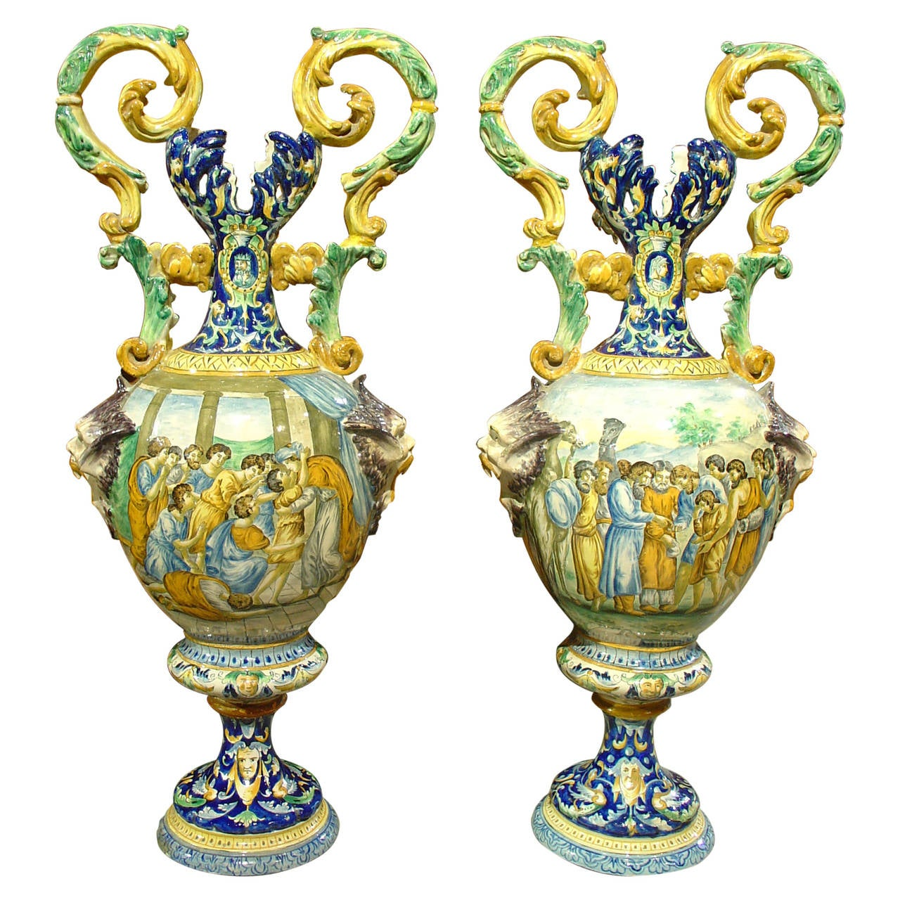 Pair of antique italian vases circa 1885 at 1stdibs pair of antique italian vases circa 1885 for sale reviewsmspy