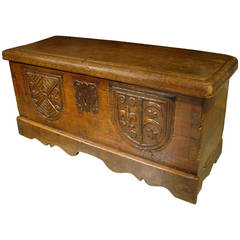 Small 18th Century French Oak Trunk