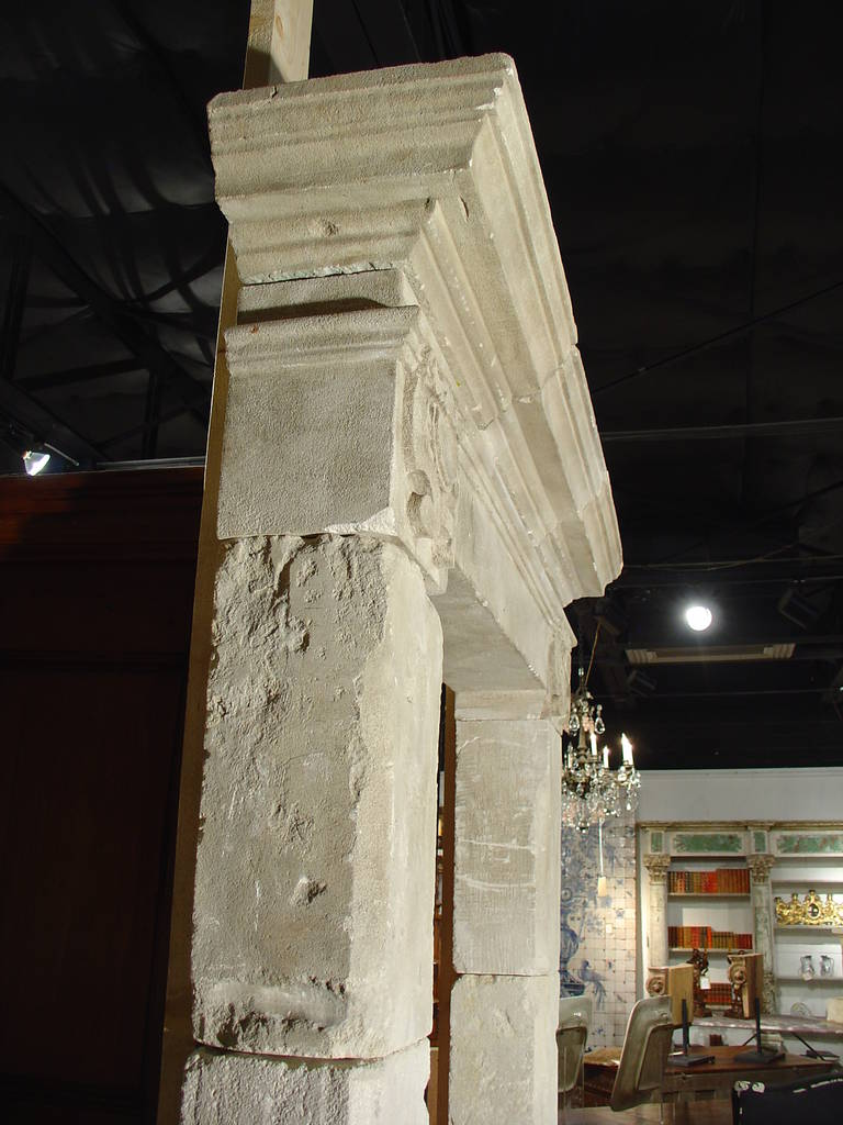 Hand Carved Limestone Door Surround From France At 1stdibs