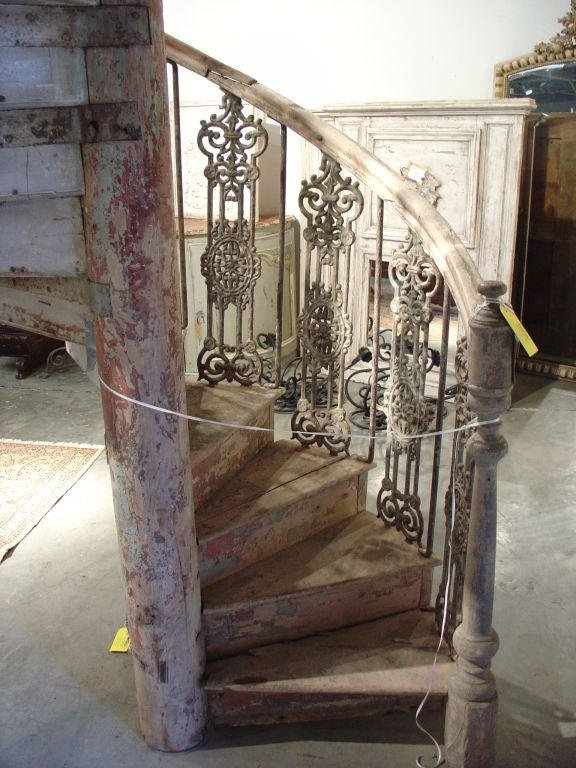Antique Spiral Staircase Found In Central South France At