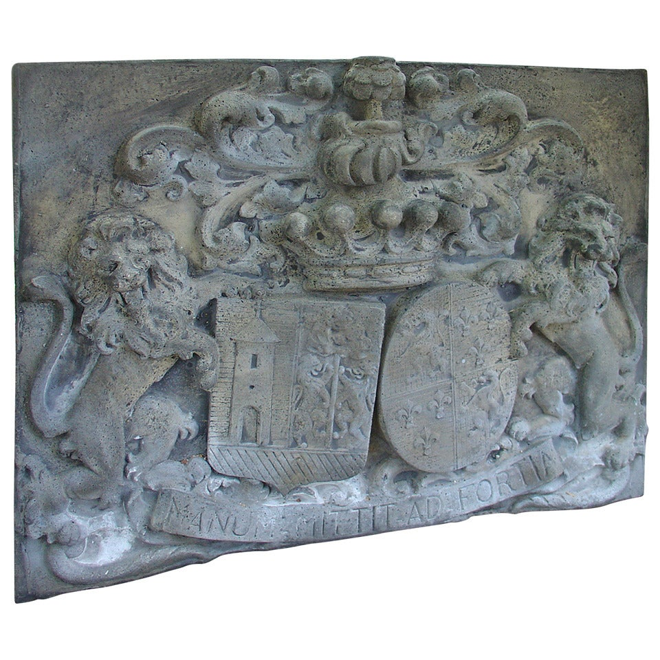 Large Bas Relief Chateau Plaque For Sale At 1stdibs