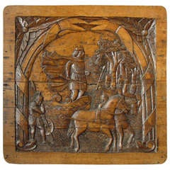 Antique Carved French Oak Panel circa 1800