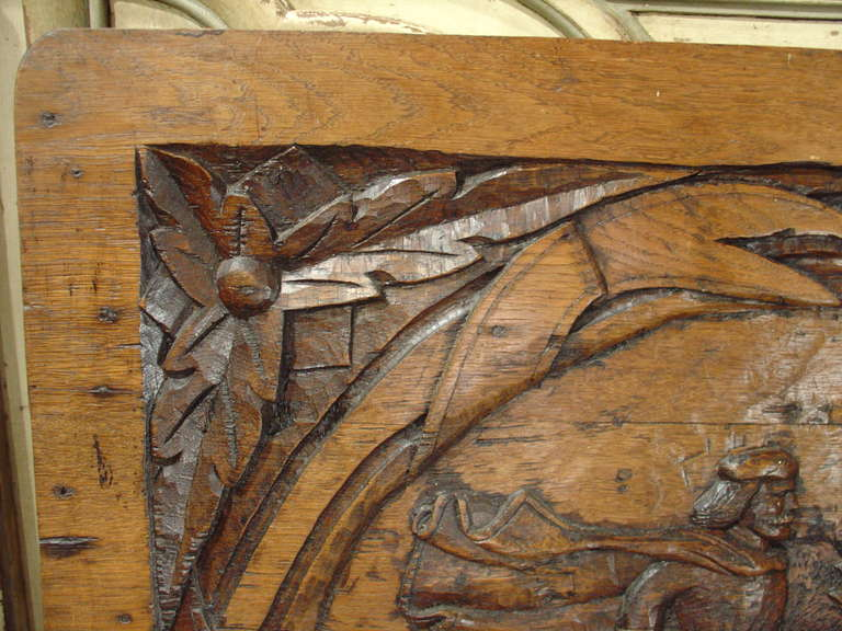Antique Carved French Oak Panel, circa 1800 For Sale 6