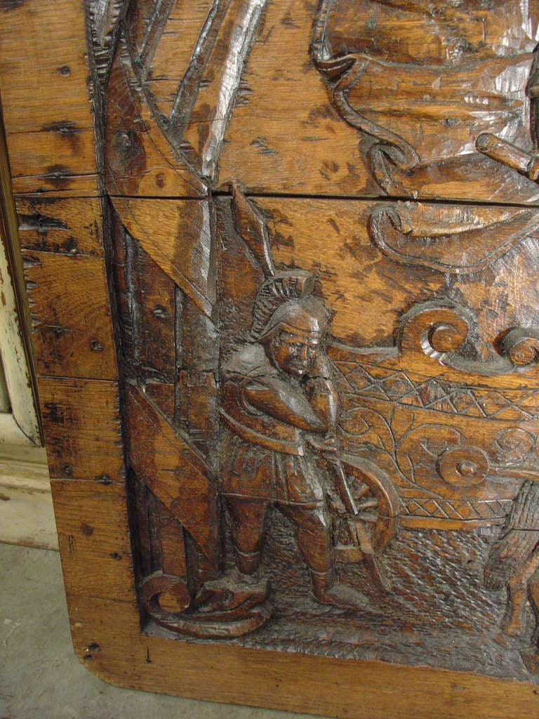 19th Century Antique Carved French Oak Panel, circa 1800 For Sale