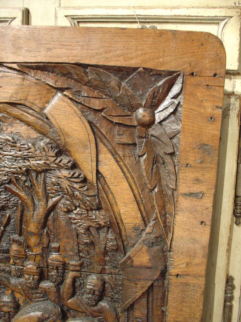 Antique Carved French Oak Panel, circa 1800 For Sale 2